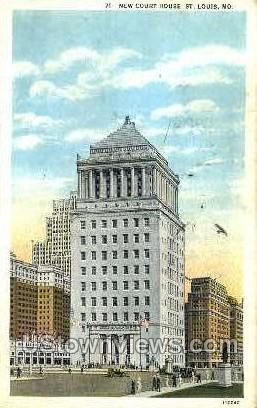New Court House - St. Louis, Missouri MO Postcard