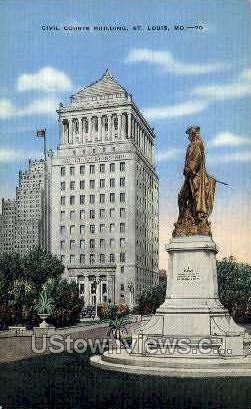 Civil Courts Bldg - St. Louis, Missouri MO Postcard