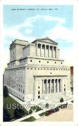New Masonic Temple - St. Louis, Missouri MO Postcard