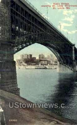 Ead's Bridge - St. Louis, Missouri MO Postcard