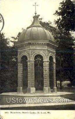 Mausoleum, Shaw's Garden - St. Louis, Missouri MO Postcard