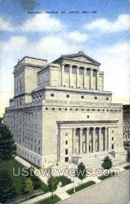Masonic Temple - St. Louis, Missouri MO Postcard