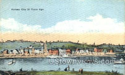 50 Years Ago - Kansas City, Missouri MO Postcard