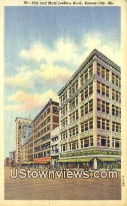 12th & Main - Kansas City, Missouri MO Postcard