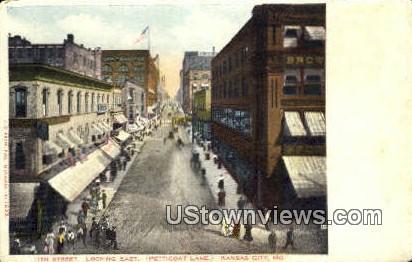 11th Street, Petticoat Lane - Kansas City, Missouri MO Postcard