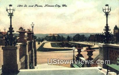 12th St, Paseo - Kansas City, Missouri MO Postcard