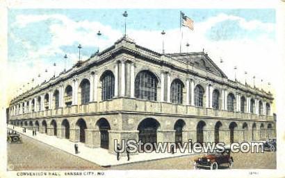 Convention Hall - Kansas City, Missouri MO Postcard