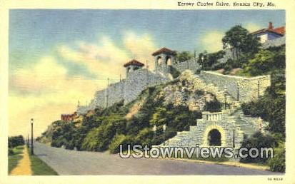 Kersey Coates Drive - Kansas City, Missouri MO Postcard