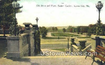 12th St, Sunken Gardens - Kansas City, Missouri MO Postcard