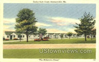 Cortez Auto Court - Harrisonville, Missouri MO Postcard