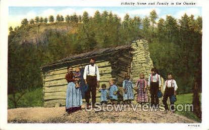 Hillbilly Home - Lake of the Ozarks, Missouri MO Postcard