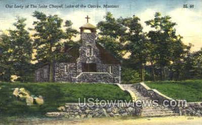 The Lake Chapel - Lake of the Ozarks, Missouri MO Postcard