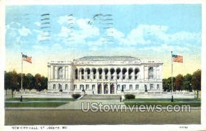 New City Hall - St. Joseph, Missouri MO Postcard