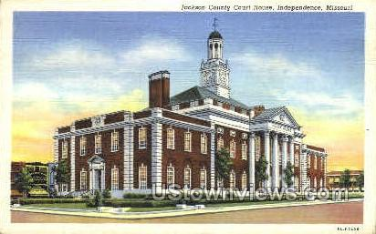 Jackson County Courthouse - Independence, Missouri MO Postcard