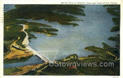 View of Ragnell Dam - Lake of the Ozarks, Missouri MO Postcard