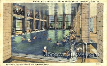 Mineral Water Swimming Pool - Excelsior Springs, Missouri MO Postcard