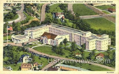 U.S. Veteran's Hospital No. 99 - Excelsior Springs, Missouri MO Postcard