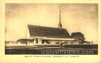 New St. Patricks Church - St. Louis, Missouri MO Postcard