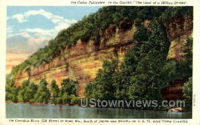 Cowskin River - Noel, Missouri MO Postcard