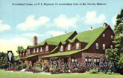 Arrowhead Lodge - Lake of the Ozarks, Missouri MO Postcard