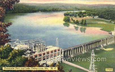 Powersite Dam - Branson, Missouri MO Postcard