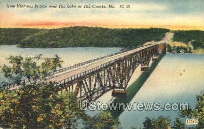 New Niangua Bridge - Lake of the Ozarks, Missouri MO Postcard