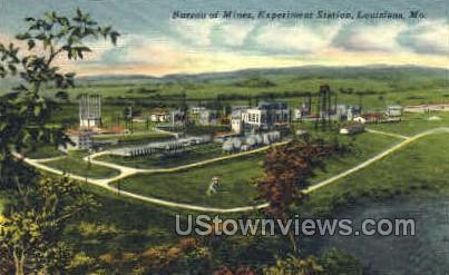 Bureau of Mines - Louisiana, Missouri MO Postcard