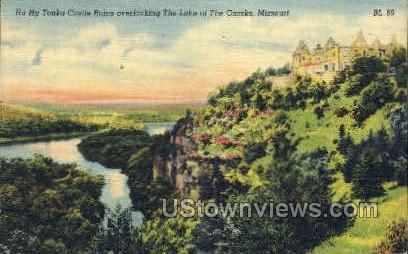 Ha Ha Tonka Castle Ruins - Lake of the Ozarks, Missouri MO Postcard