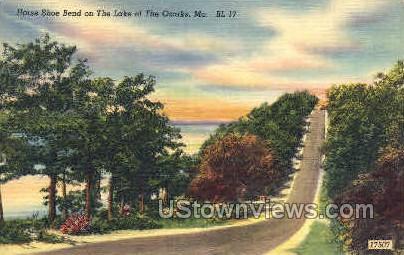 Horse Shoe Bend  - Lake of the Ozarks, Missouri MO Postcard