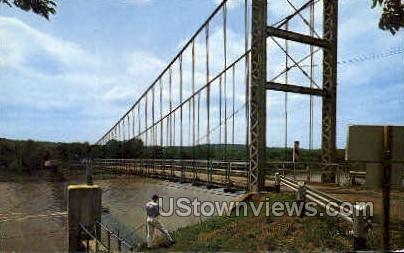 Swinging Bridge - Lake of the Ozarks, Missouri MO Postcard