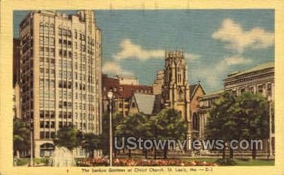 The Sunken Gardens - St. Louis, Missouri MO Postcard
