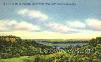 A view of the Mississppi River - Louisiana, Missouri MO Postcard
