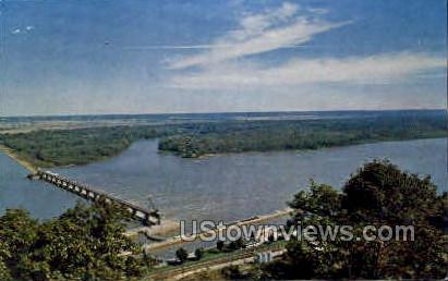 20 million dollar lock and dam - Clarksville, Missouri MO Postcard