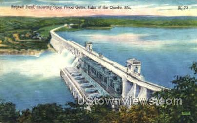 Open Bagnell Dam - Lake of the Ozarks, Missouri MO Postcard
