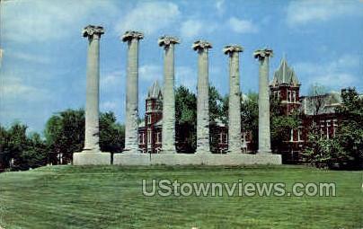 The Columns, Univ. of Missouri - Columbia Postcard
