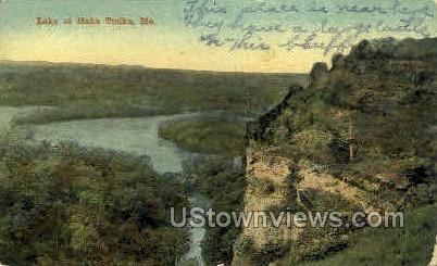 Lake at Haha Tonka - Missouri MO Postcard
