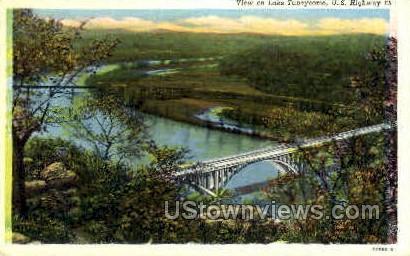 View on Lake Taneycomo - Branson, Missouri MO Postcard