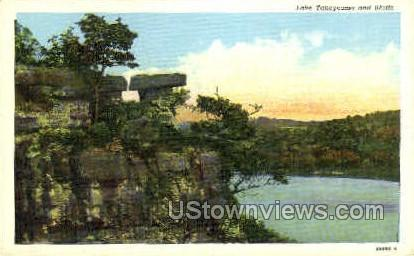 Lake Taneycomo and Bluffs - Branson, Missouri MO Postcard