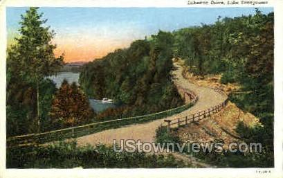 Lakeside Drive - Branson, Missouri MO Postcard