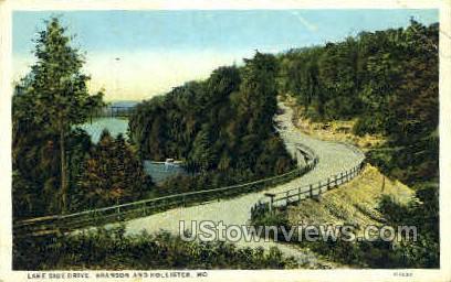 Lake Side Drive - Branson, Missouri MO Postcard