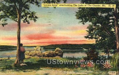 Lovers Leap - Lake of the Ozarks, Missouri MO Postcard