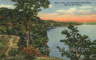 Scenic View from Horseshoe Bend  - Lake of the Ozarks, Missouri MO Postcard
