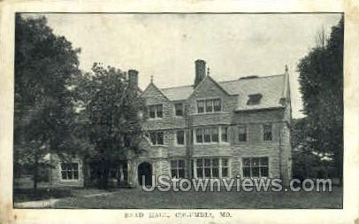 Read Hall - Columbia, Missouri MO Postcard