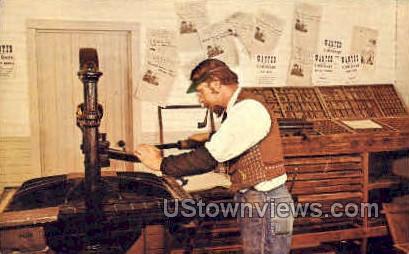 Editor Bruce, Silver Dollar Gazette - Branson, Missouri MO Postcard