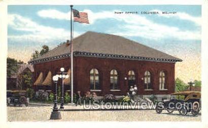Post Office   - Columbia, Missouri MO Postcard