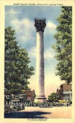 White Water Tower - St. Louis, Missouri MO Postcard