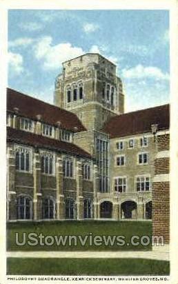 Kenrick Seminary - Webster Groves, Missouri MO Postcard