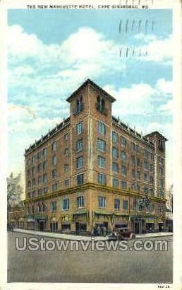 The New Marquette Hotel - Cape Girardeau, Missouri MO Postcard