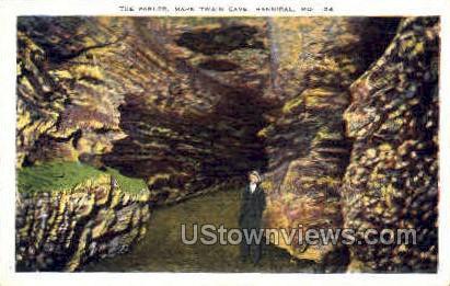 The Parlour, Mark Twain Cave - Hannibal, Missouri MO Postcard