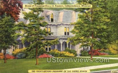 Harry Truman home - Independence, Missouri MO Postcard